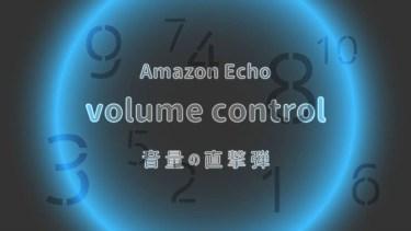 Echo ボリューム 音量調整を簡単にする方法