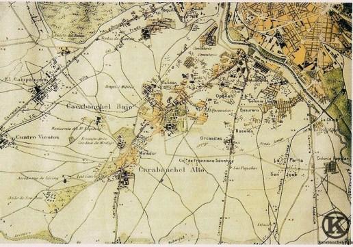 Mapa de los Carabancheles de 1944