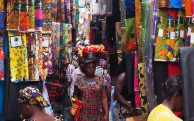 Mercado de Telas en África