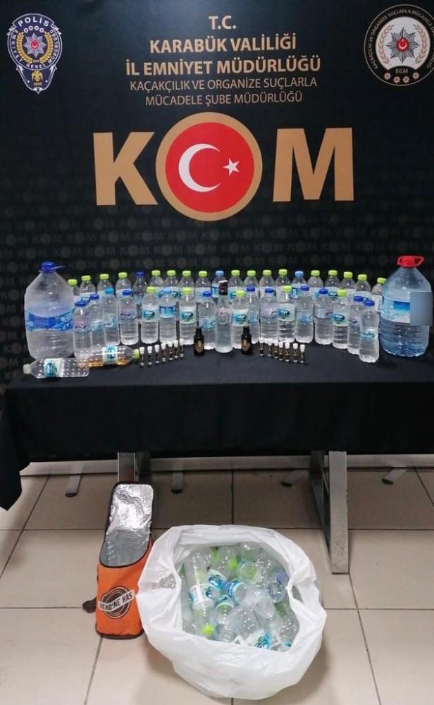 Karabük'te sahte içki operasyonu: 1 gözaltı