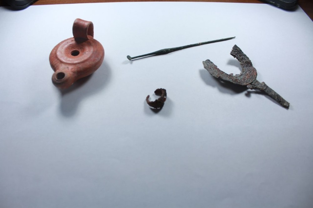 Karadeniz'in Zeugmasında yapılan kazılar yeni eserler ortaya çıktı