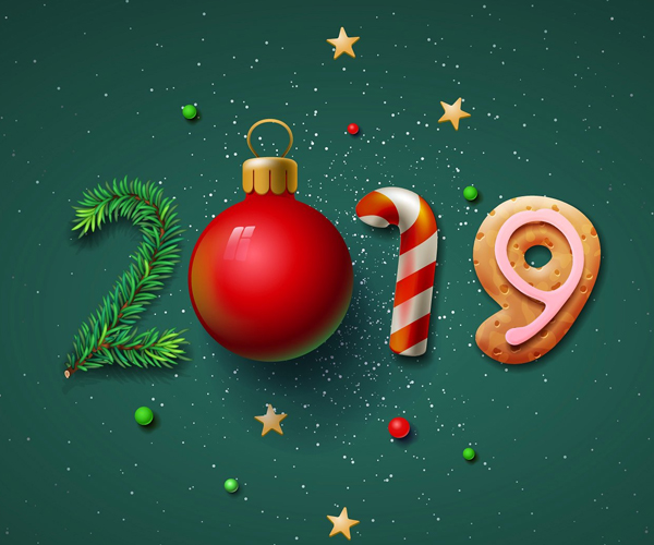 Awesome New Year Amp Christmas Cards Graphic Designs Web