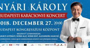 Nyári Károly karácsonyi koncert 2018 Budapesten - jegyek itt