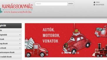 Karácsonyház webshop - újra működik a karácsonybolt