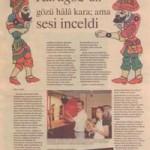 Zaman gazetesi Turkuaz eki 7 Temmuz 2002