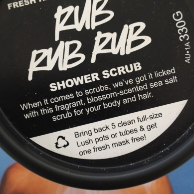 LUSH has a recycling program where if you bring in 5 clean full-size Lush pots or tubes you get a free face mask. I have done this a few times and it's a great incentive to recycling!