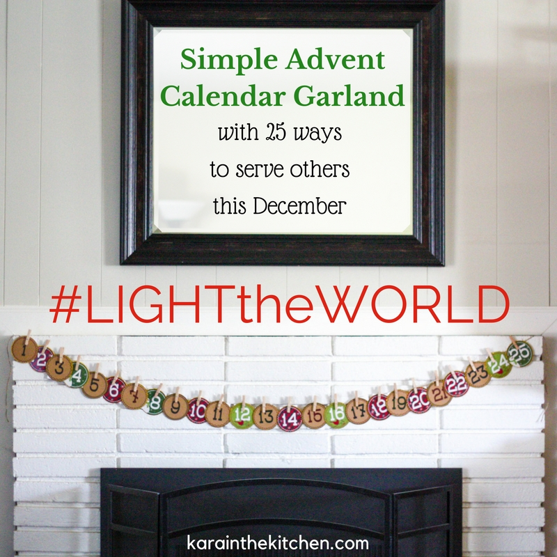 #LIGHTtheWORLD - karainthekitchen.com