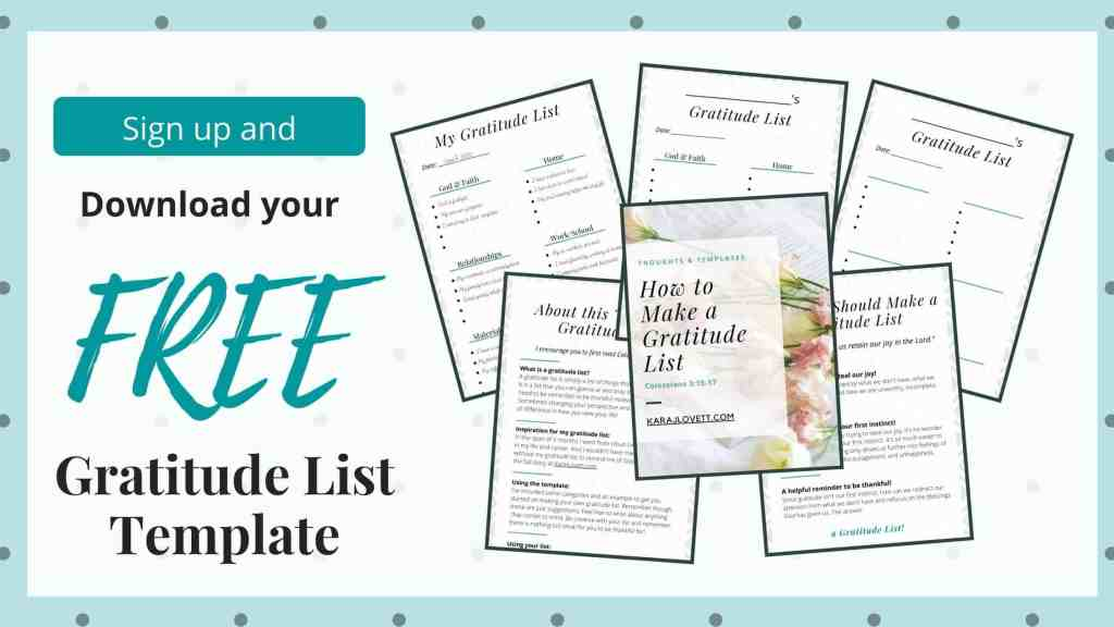 "image shows the pages included in the ""how to make a gratitude list"" template"