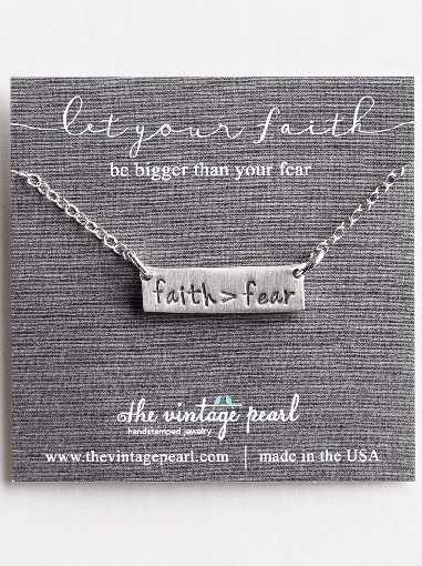 Overcoming Fear with Faith Necklace