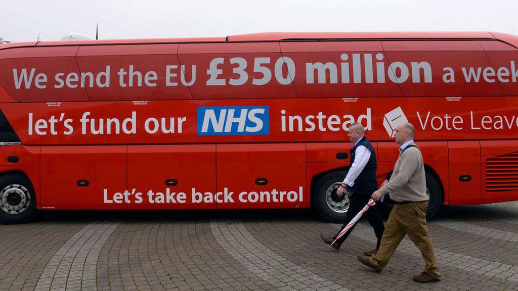 Brexit autobuss