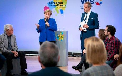 Die Kanzlerin Merkel