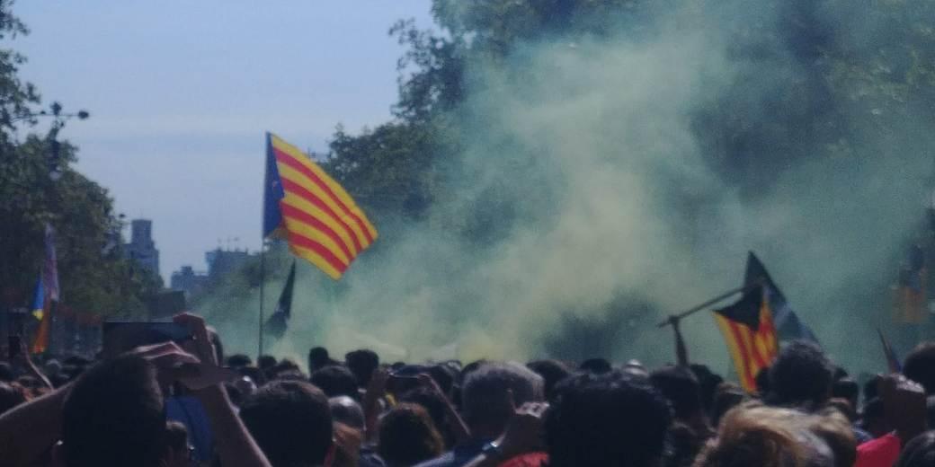 Demonstrācija Barselonā 2018. gada 1. oktobrī
