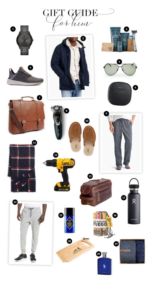 Gift Guide for Him with Haus of Layne. Our top 20 ideas for the realistic budget ranging from $250 down to $15. Catch the ideas now! #GiftGuide2018 #GiftGuides2018 #GiftGuideForHim #GiftGuideForDad #GiftIdeasForMen #GiftIdeasForDad