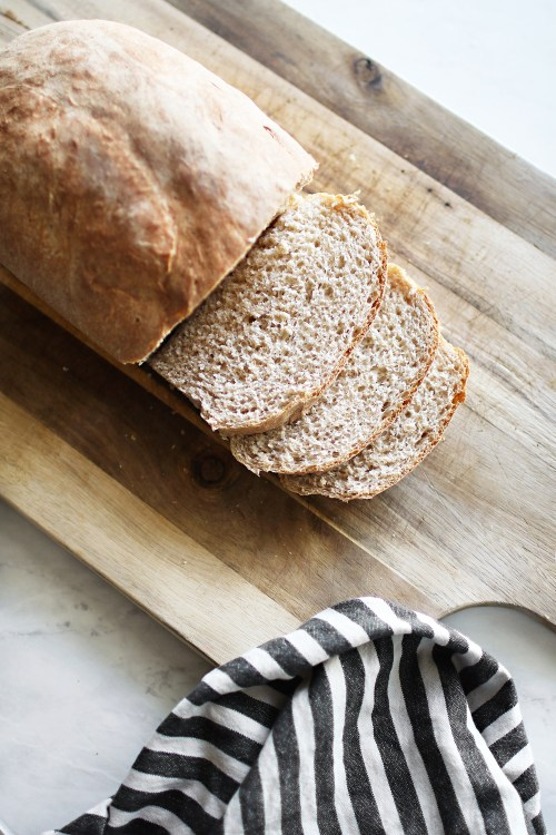 Sharing my recipe for delicious and homemade honey whole wheat bread. Get it now over on KaraLayne.com! #HomemadeBread #EasyHomemadeBread #HomemadeBreadRecipe #HoneyWholeWheatBread #HowToMakeHomemadeBread #Recipe #Baking