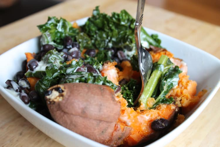 What The Foodie Dietitian Ate Wednesday: Loaded Sweet Potato   The Foodie Dietitian @karalydon