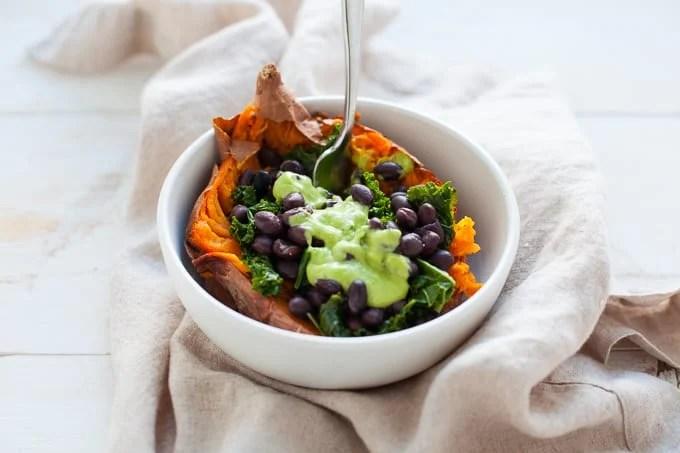 Vegan Loaded Sweet Potato - The Foodie Dietitian | Kara Lydon