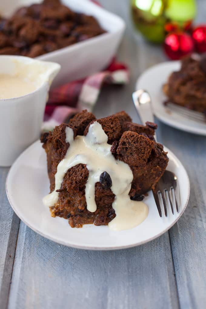 Gingerbread Bread Pudding made with whole grains!