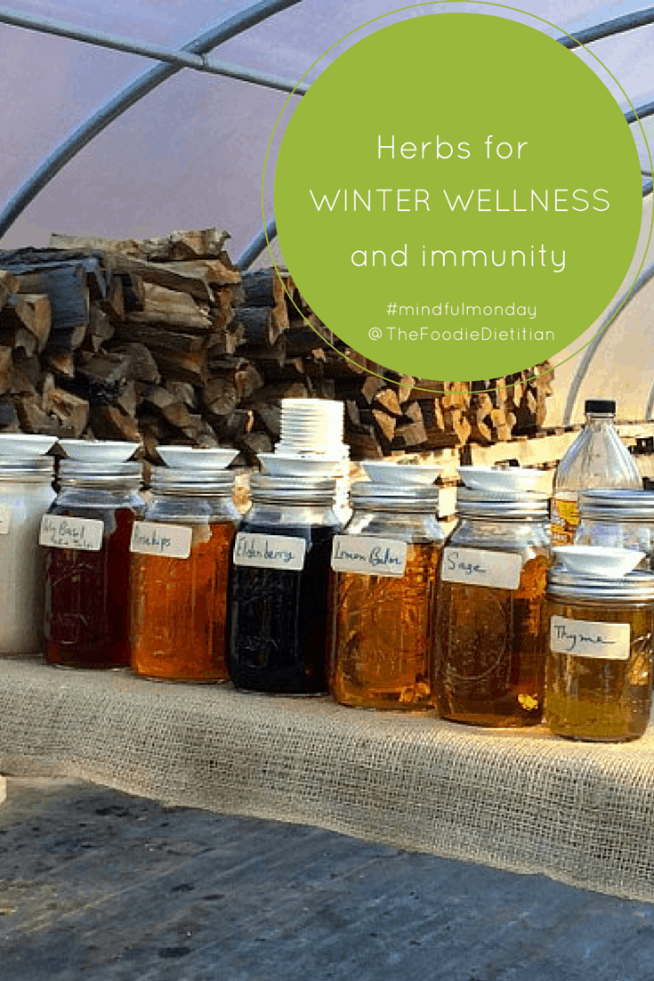 As cold and flu season is full-force, there are natural remedies, herbs for winter wellness, straight from the earth, that can help strengthen your immune system. Learn which immune-boosting herbs you should stock up on this winter to avoid that pesky common cold. | @TheFoodieDietitian