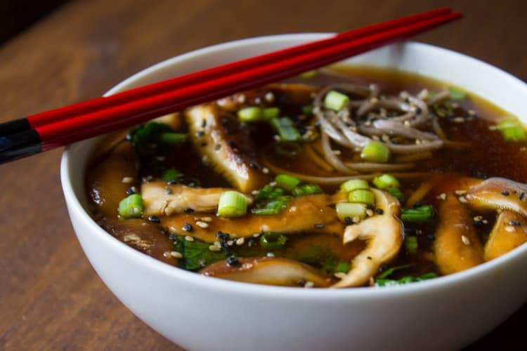 Vegan Kale and Mushroom Miso SoupFG-7