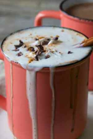 Vegan Boozy Spiced Hot Chocolate | @TheFoodieDietitian