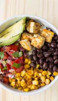 Vegan Burrito Bowls | @TheFoodieDietitian