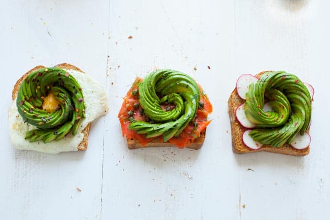 Avocado Rose Toast