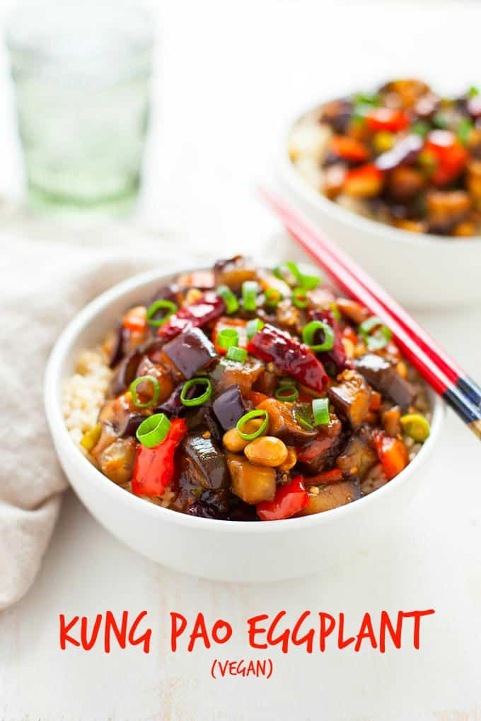 Better than Chinese takeout! Kung Pao Eggplant is a vegan twist on a classic, bursting with savory, rich umami flavors and packed with nutrients.