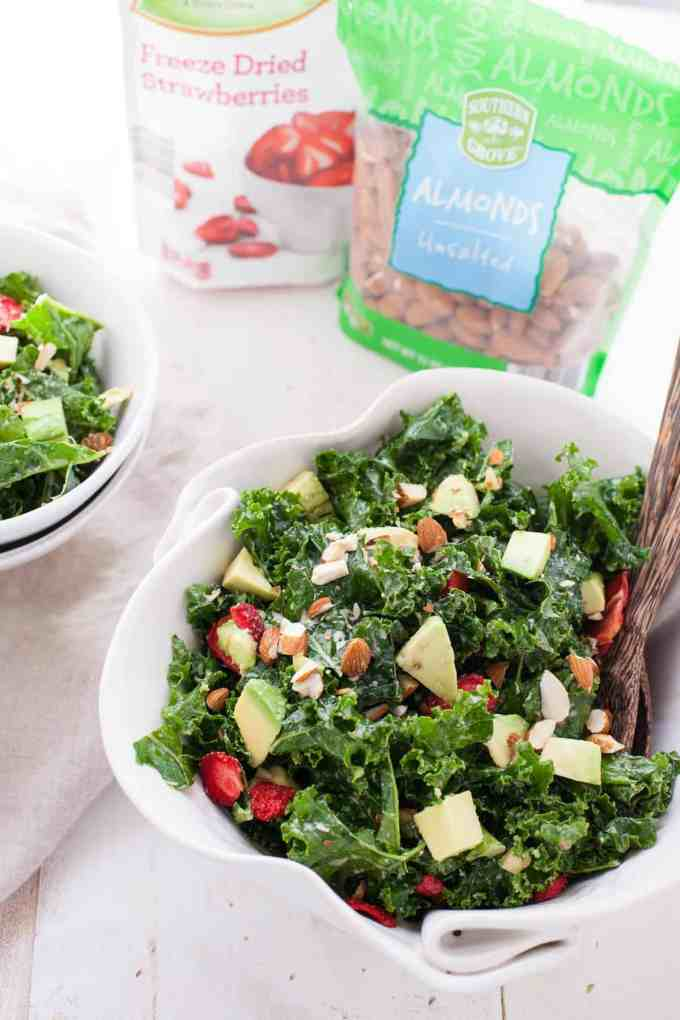 Kale Salad with Lemon Yogurt Dressing