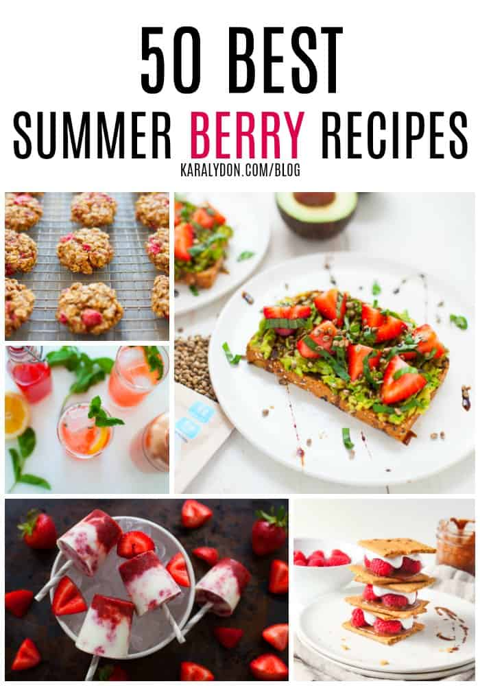 It's that time of year when berries are in-season! Get the most out of this season'sfruit bounty with these 50 best summer berry recipes!