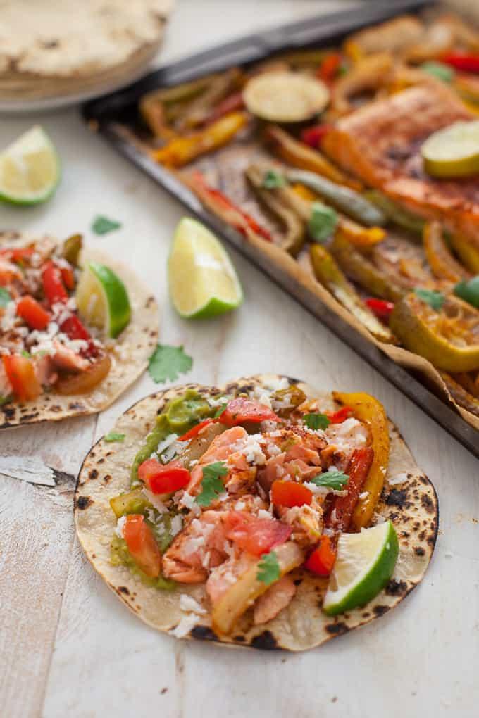 Sheet Pan Salmon Fajitas | Gluten-Free