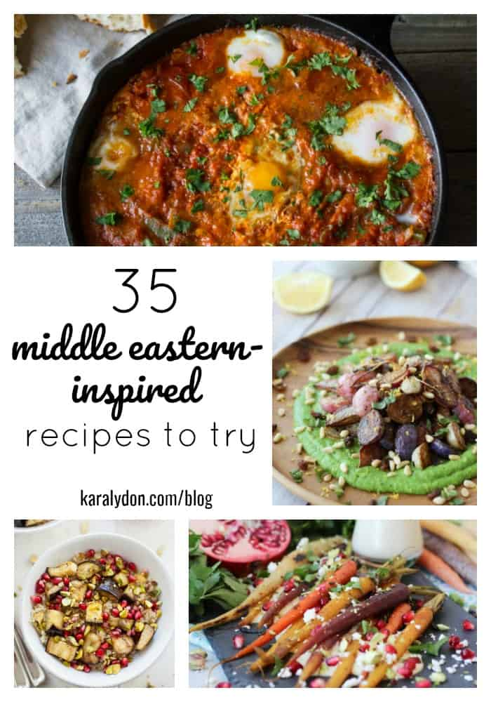 Middle Eastern cuisine is HOT right now and on track to be one of the biggest food trends of 2018. Think beyond the plain and simple hummus and falafel, and try out the trend in your kitchen with one of these healthy and delicious 35 Middle Eastern inspired recipes!