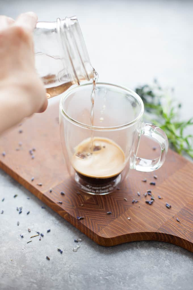 lavender simple syrup for coffee drinks