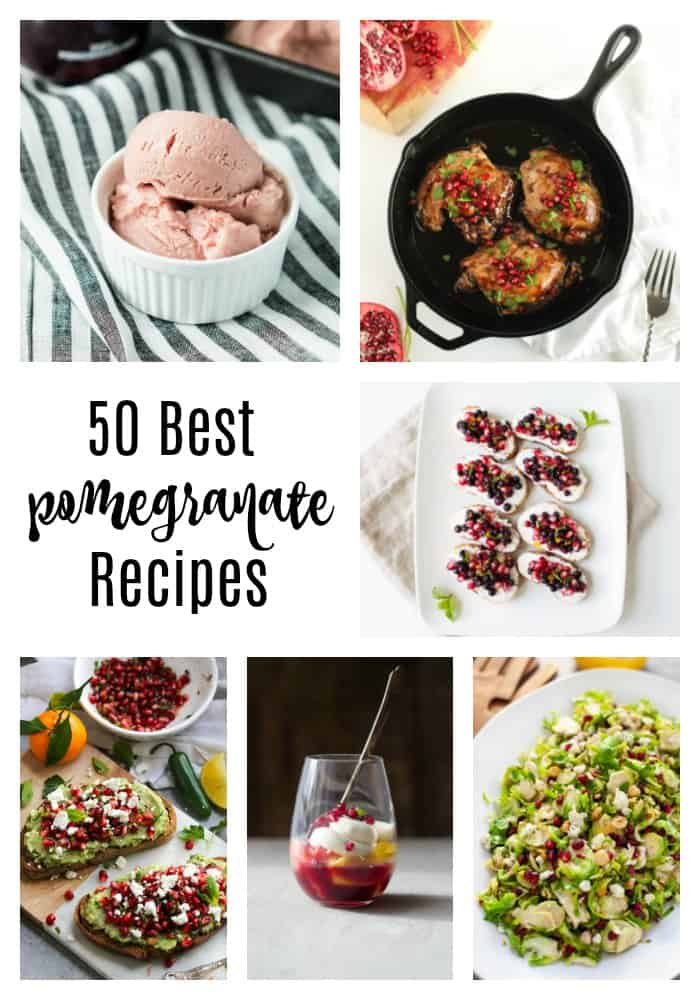 Pomegranate is that vibrant ingredient that can liven up any dish! These 50 best pomegranate recipes are colorful and flavorful as well as cozy and comforting. #pomegranate
