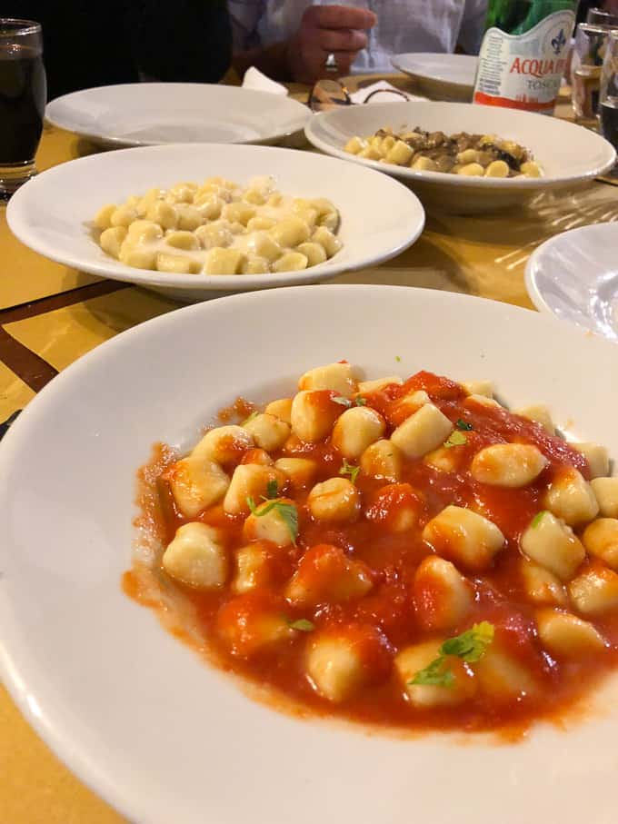 3 days in montepulciano - gnocchi for dinner