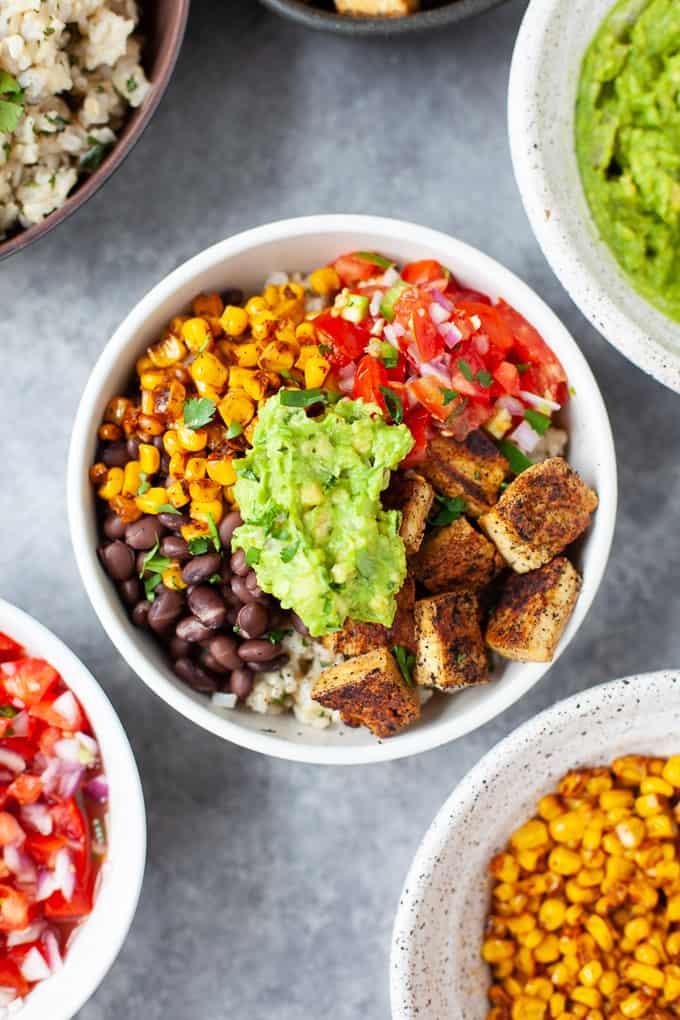 chipotle copycat vegan burrito bowl