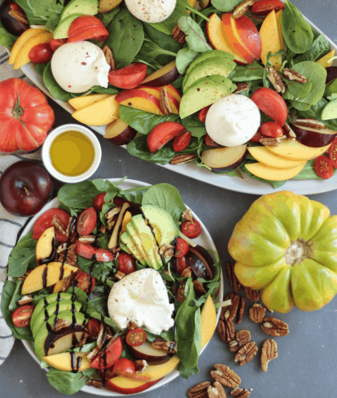 fruit salad with mango and avocados