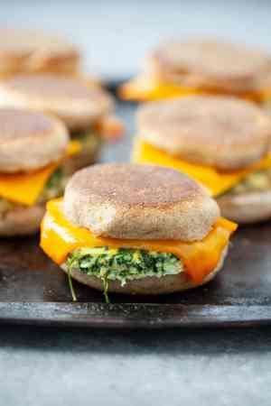 veggie breakfast sandwiches