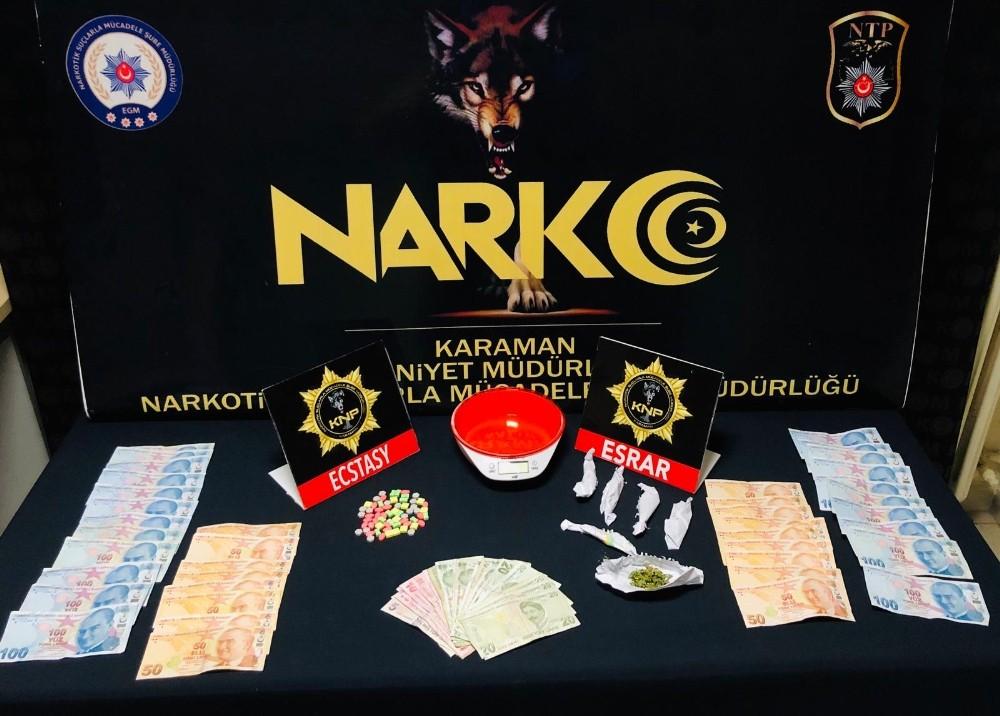 Karaman'da uyuşturucudan gözaltına alınan 4 kişi tutuklandı