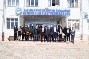 Rektör Namık Ak, Ermenek'teki akademik birimleri inceledi