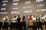 On Stage prior to screening