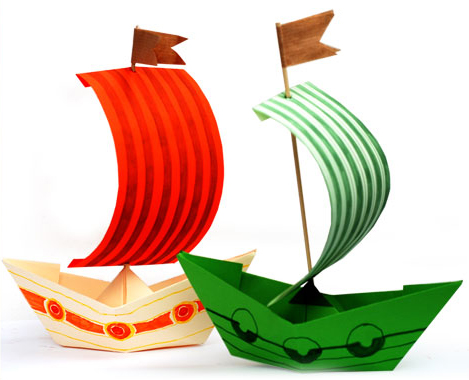 How to make a boat from paper? Instructions for folding paper boat do it yourself stage 6