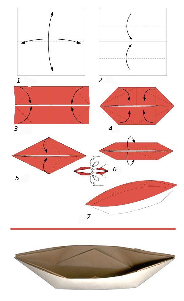 Как сделать кораблик из бумаги? Инструкция складывания бумажного кораблика своими руками этап 35