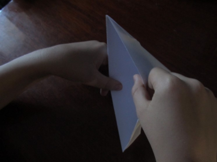 How to make a boat from paper? Instructions for folding paper boat do it yourself step 17