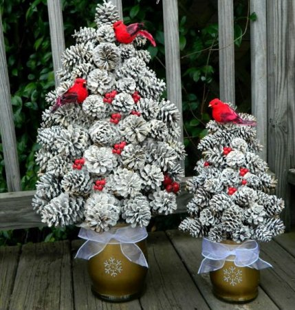 Жаңа жылдық шыршасы бар жаңа ағаш & # 8212; Фото идеялар және шеберлік сабақтары 38-кезең