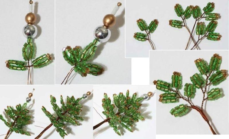 DIY juletræ til nytår & # 8212; fotoideer og mesterklasser trin 10