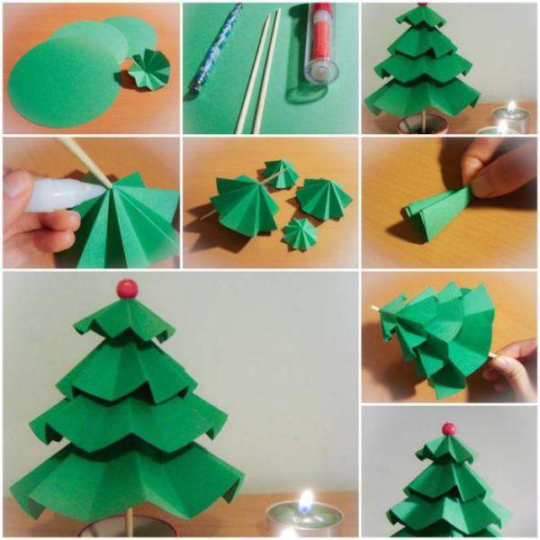 Χριστουγεννιάτικο δέντρο με τα χέρια σας για το Νέο Έτος & # 8212; Ιδέες φωτογραφιών και Master Classes Στάδιο 92