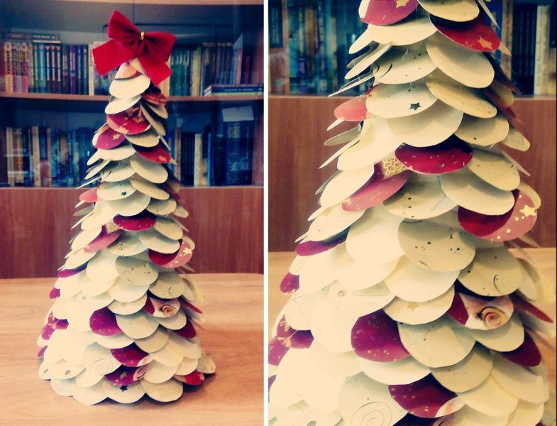 Χριστουγεννιάτικο δέντρο με τα χέρια σας για το Νέο Έτος & # 8212; Ιδέες φωτογραφιών και κύρια μαθήματα Στάδιο 93