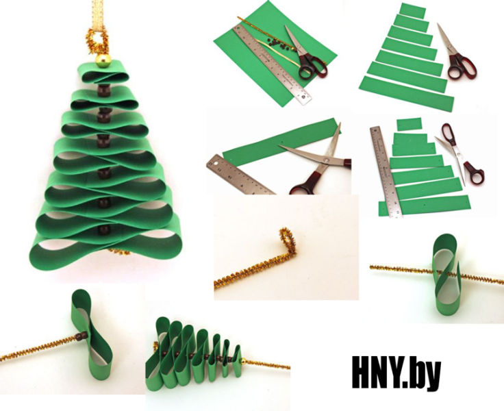 DIY Christmas tree for New Year & # 8212; photo ideas and master classes stage 94