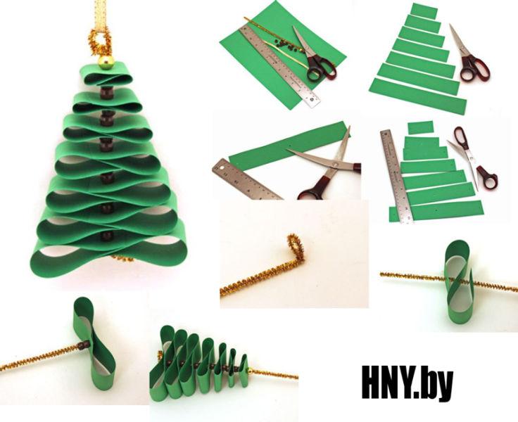 DIY juletræ til nytår & # 8212; fotoideer og mesterklasser trin 94