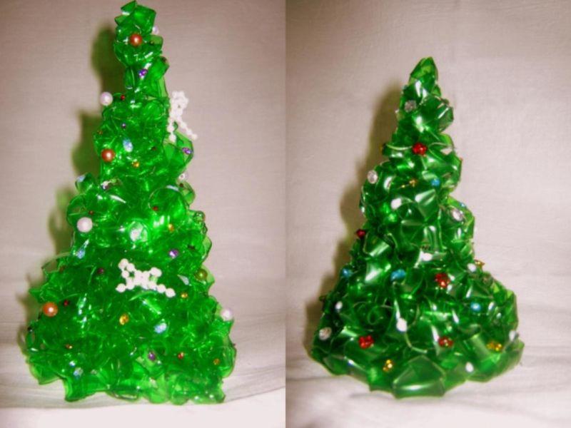 DIY juletræ til nytår & # 8212; fotoideer og mesterklasser trin 103